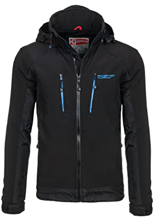 a7203e3e9 BOLF Men's Softshell Jacket Cuffs with Velcro Comfy Sport Jacket with Hood  FREESTEP 2346
