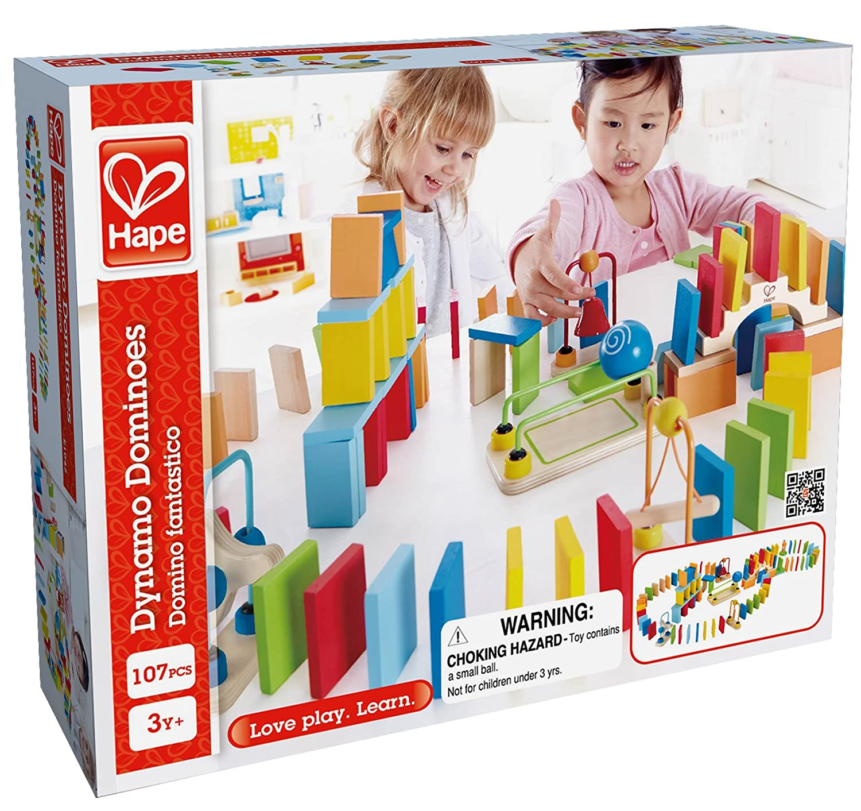 Amazon Hape Dynamo Kid s Wooden Domino Set Toys & Games