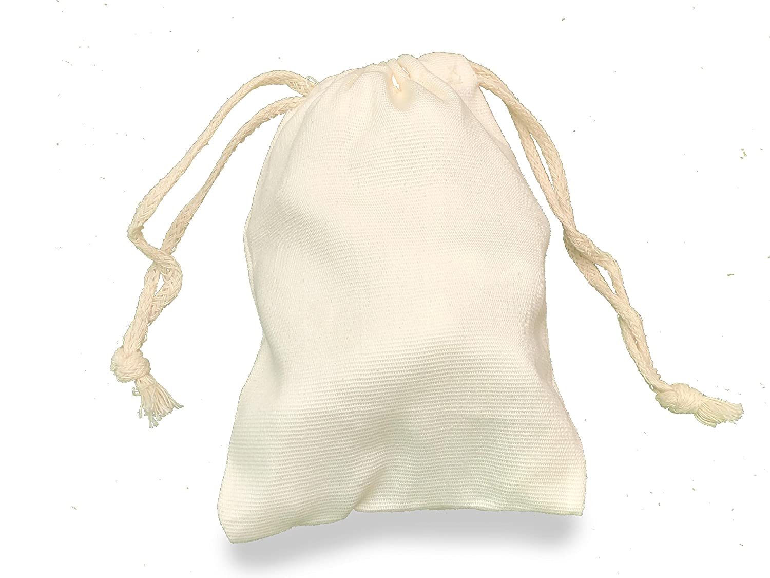 dad3043a20d Amazon.com: 12x18 inches 100% Organic Cotton CANVAS Double Drawstring  Muslin Bags Natural Color,Highly Durable and Recyclable Fabric, QTY-200:  Kitchen & ...