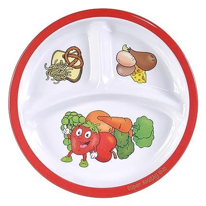 Amazon.com: Healthy Habits Kids Myplate: Dinner Plates: Kitchen & Dining