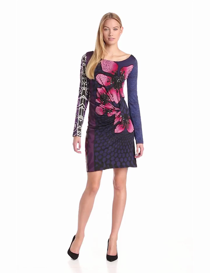 Desigual Womens Melba long Sleeves Dress