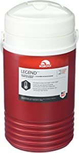 Igloo Legend Beverage Cooler, Red, 1/2 (0.5) Gallon