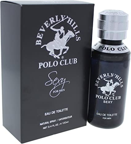 Beverly Hills Polo Club Sexy Eau de Toilette Spray for Men, 3.4 ...