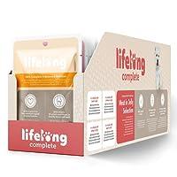 Marque Amazon- Lifelong Aliment complet pour chiens adultes- Sélection à la viande en gelée 9,6 kg (96 sachets x 100g)