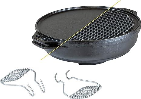 Dutch Oven Ghisa Set 6 Pezzi da Campeggio Outdoor Cuoco Accessori Grill
