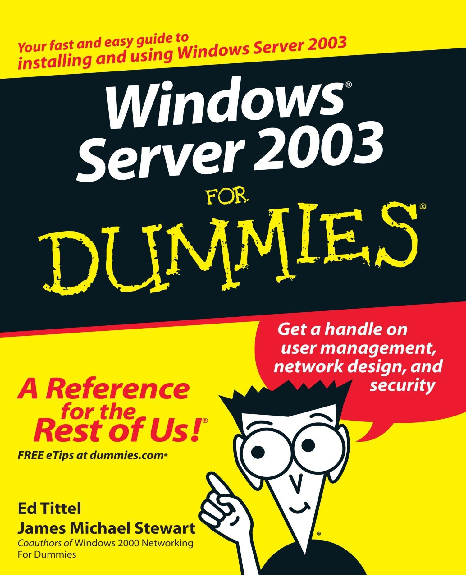 Download Windows Server 2003 For Dummies ebook