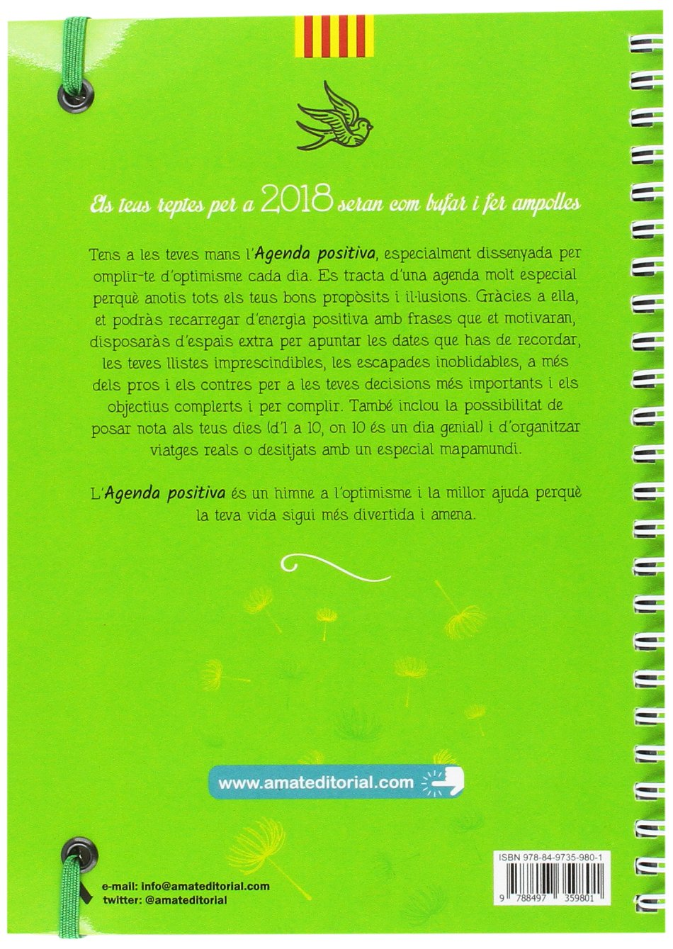 Agenda Postiva Català 2018: Amat Editorial: Amazon.es ...