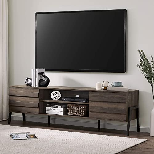 FITUEYES TV Stand Mid Century Entertainment Centre