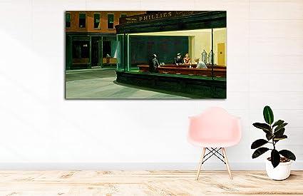 Edwar Hooper Tableau Sur Toile Avec Cadre En Bois De 3 Cm Fabriqué En Espagne Impression En Haute Résolution 65 X 120 Cm Amazon Fr Bienvenue