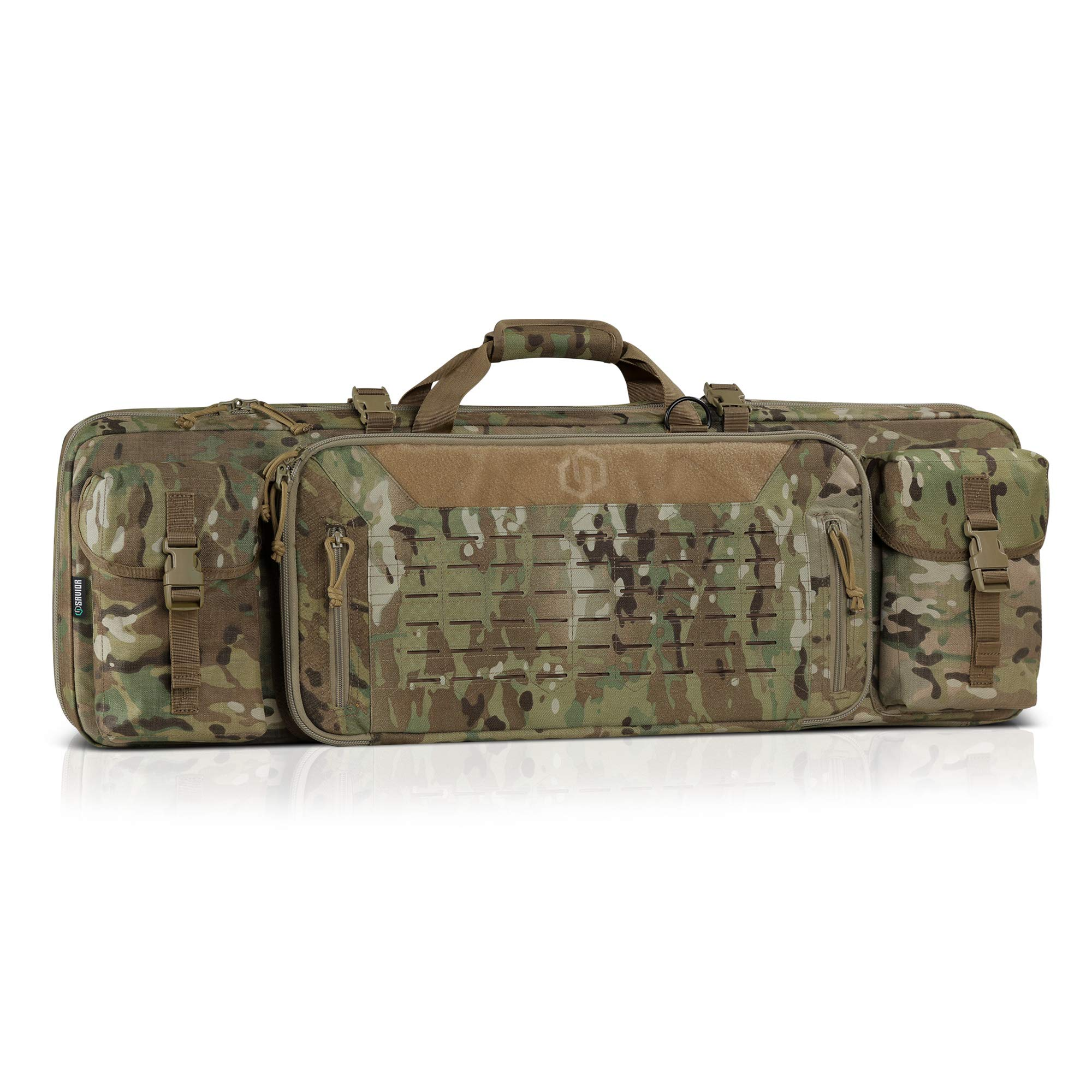 Savior Equipment 42'' Urban Warfare Multicam Original Tactical Double Carbine Long Rifle Bag Firearm Gun Case w/Removable Backpack Strap - 1000D Cordura Nylon Fabric, UTX Buckles, YKK Zippers by Savior Equipment
