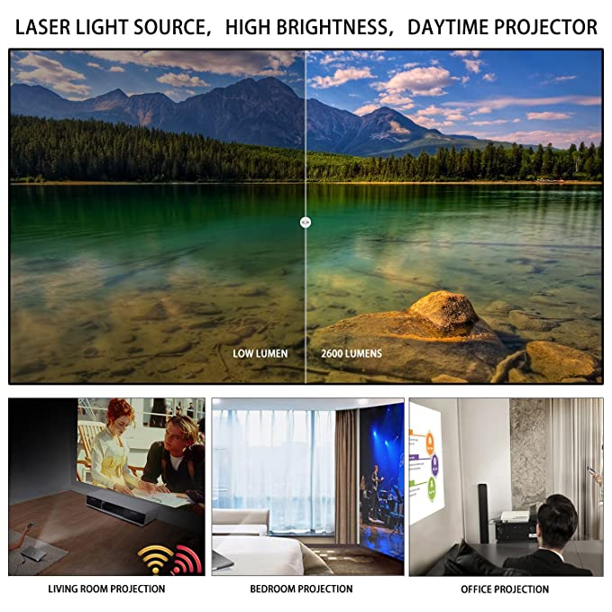 XMing A1 Laser 3D Android Proyector 600 ANSI lúmenes Full HD ...
