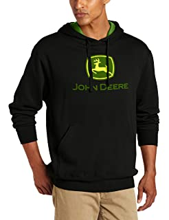 John Deere Mens Trademark Logo Core Hood Pullover Fleece
