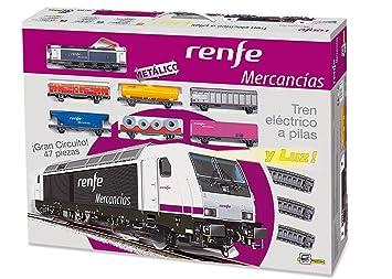 PEQUETREN - Renfe de mercancías, Tren con Circuito de 8.3 m (Servicios e Industrias del Juguete 888)