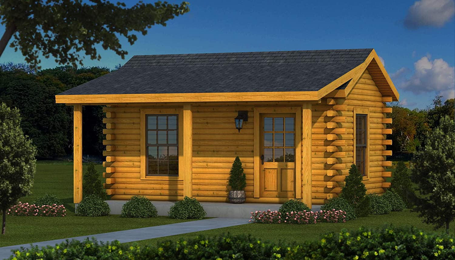 12x20 Log Cabin Kit (Stockade)