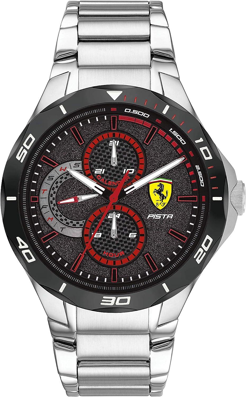 Scuderia Ferrari 830726 Quartz Watch With Stainless Steel Bracelet Amazon De Uhren