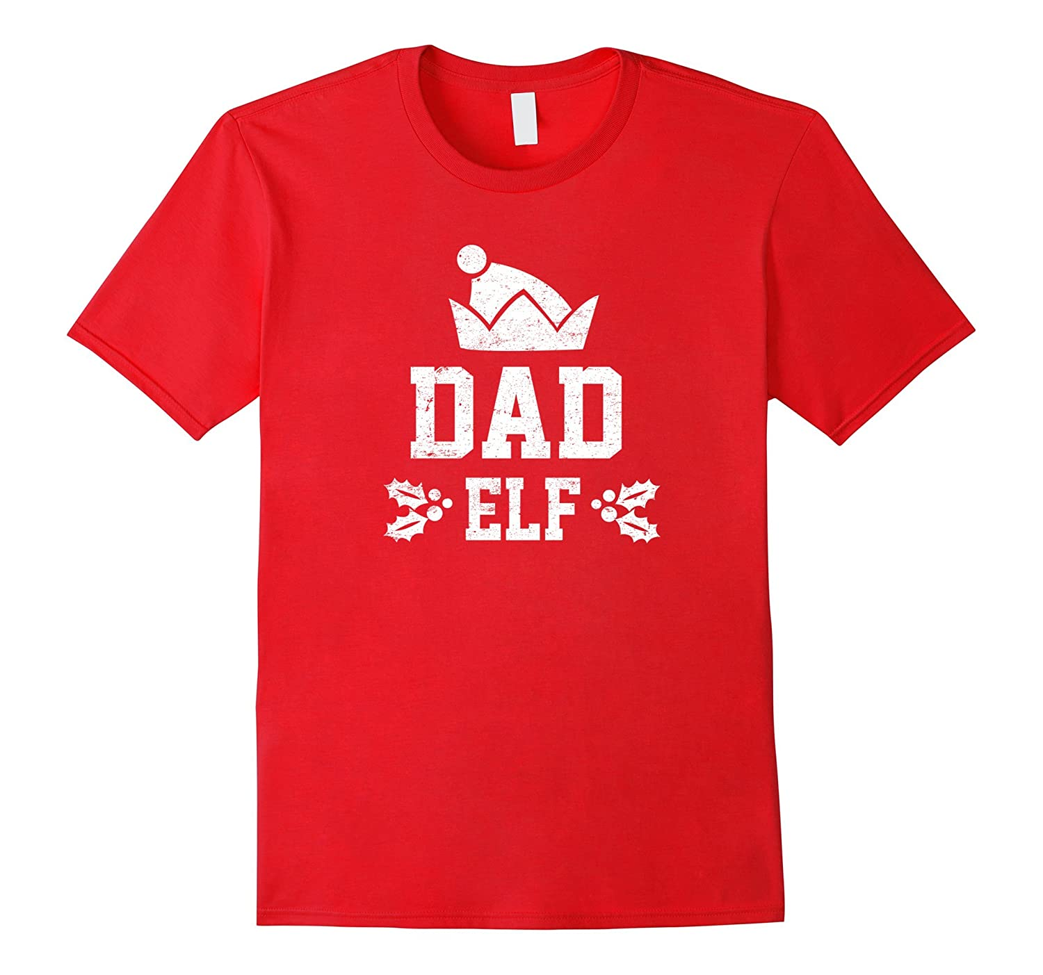 Dad Elf Pajama Christmas Holiday Season Funny Tshirt-FL