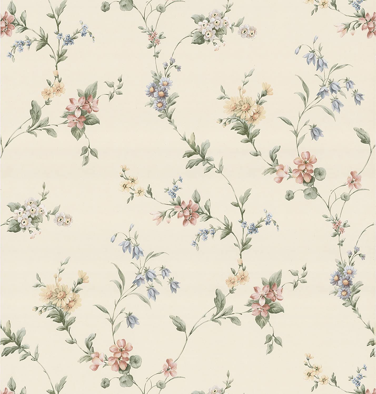 Brewster 137 38536 Kitchen Bath Bed Resource Iii Floral Ribbon