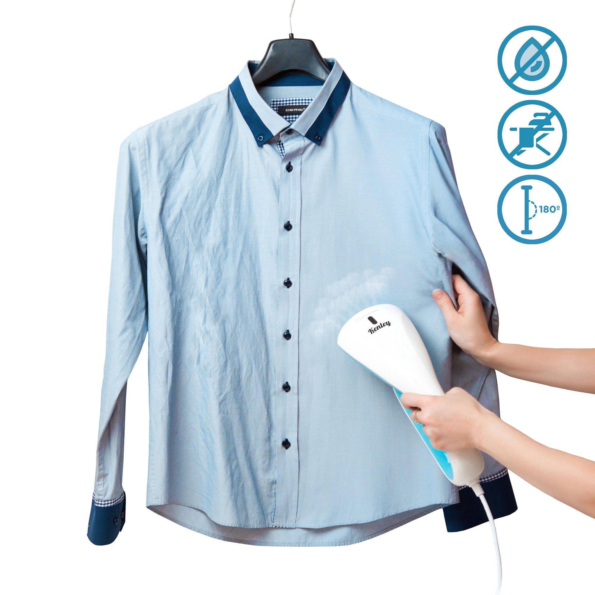 Kenley Dampfglätter Dampfbügeleisen - Mini Dampfbügelstation für Reise & Haushalt - 1000 W Bügeleisen Dampfbürste Dampf Steamer für Kleidung und Hemden - 20 Sekunden Erwärmung - 15 Min Dampfzeit