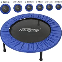 Physionics® Mini trampolín en Varias tamaños   Peso máximo: 100 kg   Fitness Trampoline, Trampolín Elástico para jardín y Uso doméstico, Cama Elástica