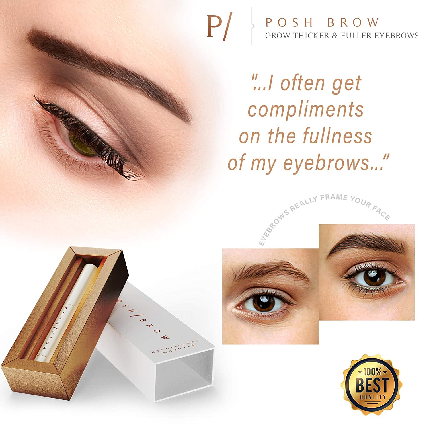 Posh Brow Eyebrow Conditioner 5ml High Potency Serum For Longer