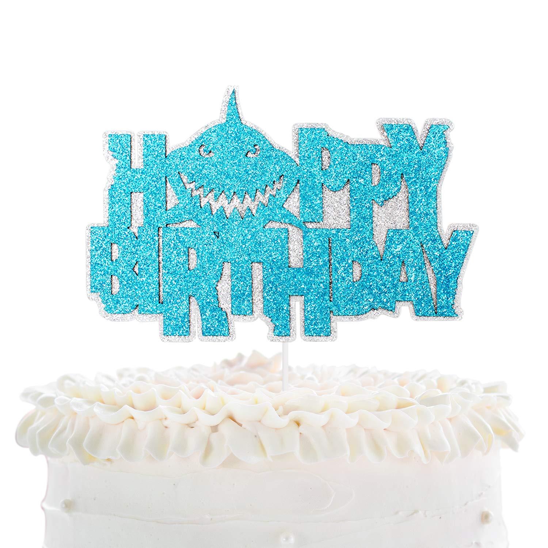 Terrific Baby Shark Birthday Cake Topper Under The Sea Animal Shark Cake Funny Birthday Cards Online Alyptdamsfinfo