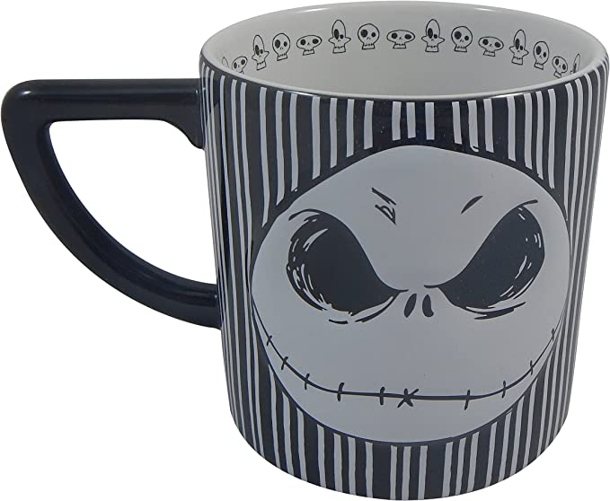 Disney NBC FACES OF JACK SKELLINGTON 20 OZ JUMBO MUG CUP *GLOW IN THE DARK*