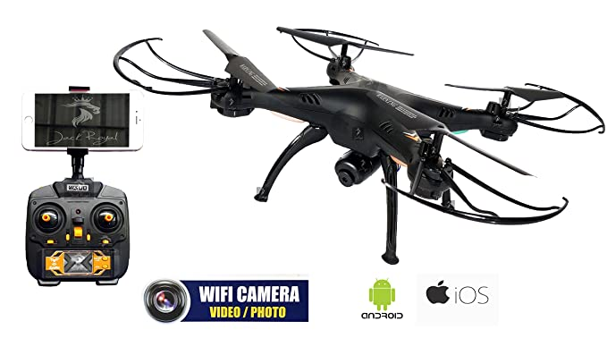 Jack Royal Drone With Camera And Headfree 360 Degree Eversion (Black) Helicopters at amazon