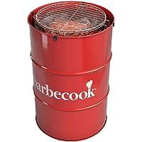 Edson Red Designer Grill Barbecook XXL rot Stylegrill Garten ✔ rund ✔ stehend grillen ✔ Grillen mit Holzkohle