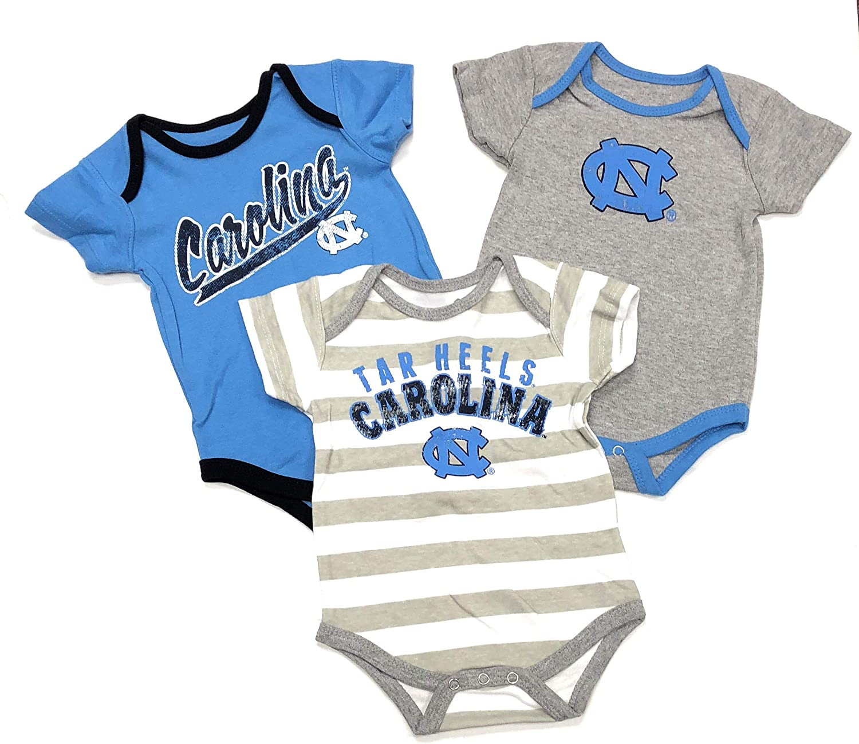 North Carolina Tar Heel NC University Sport Newborn Romper Bodysuit For Babies