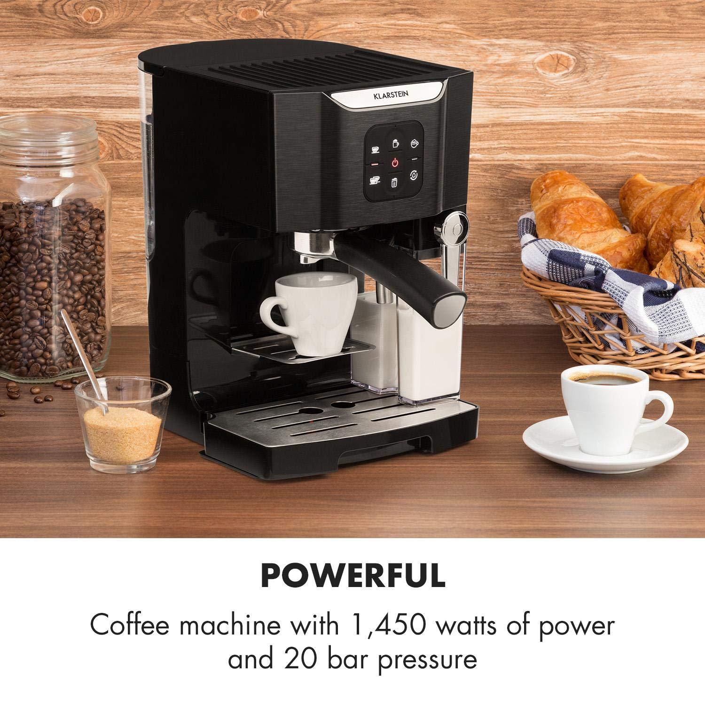 Kaffeemaschine Espressomaschine Cappuccino Milchschäumer Siebträger 20 bar 1450W