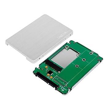 LogiLink AD0020 - Carcasa de Aluminio para SSD M.2 SATA (2,5