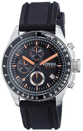 Fossil Reloj Cronógrafo para Hombres de Cuarzo con Correa en Silicona CH2647: Amazon.es: Relojes