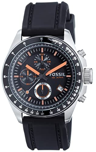 5fc2264360f Fossil Womens Chronograph Quartz Watch with Silicone Strap CH2647  Fossil   Amazon.co.uk  Watches