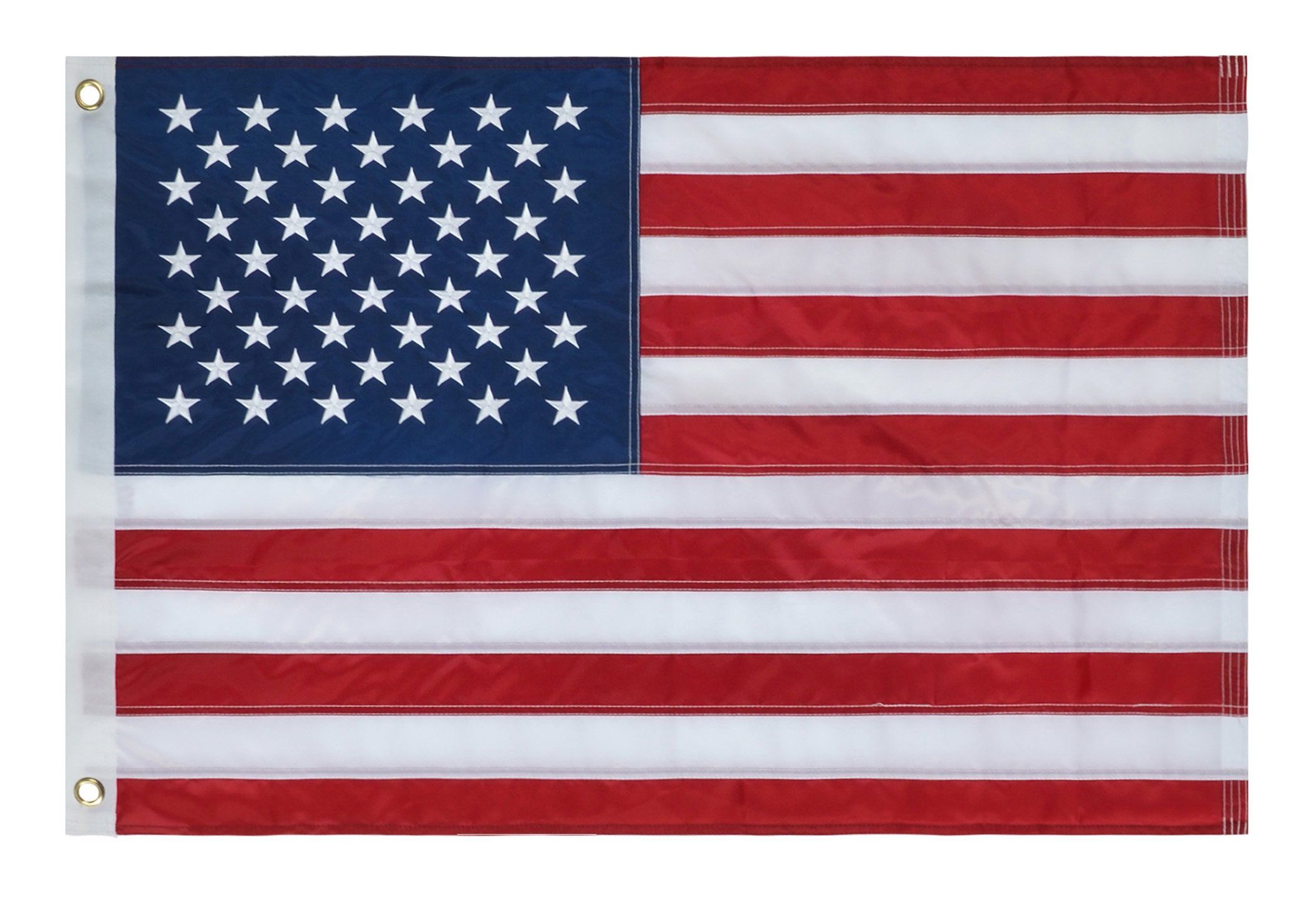 American Flag 8x12 ft.–Heavyweight Oxford Nylon Built for Outdoor Use, UV Protected and Featuring Embroider Stars and Sewn Stripes and Brass Grommets (8'x12') by Sheface