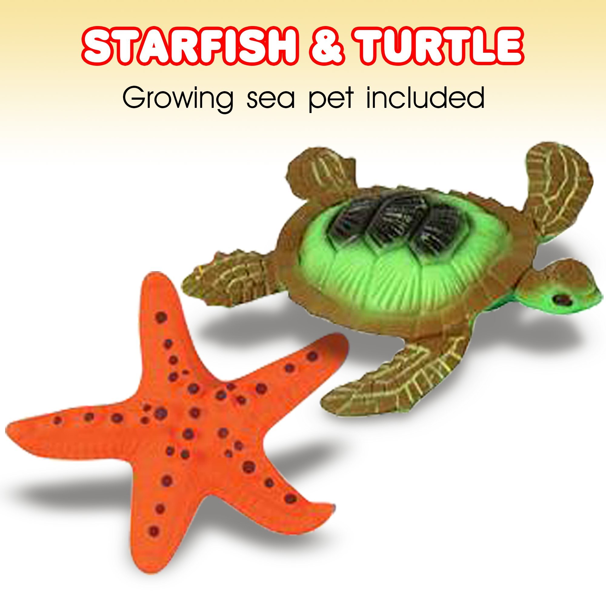ArtCreativity Growing Sea Animals 6 Different Water Expanding Sea Creatures  Grows 6X Larger   Amazing Sensory Jelly-Like Toy   Fun & Educational Gift for Boys & Girls. by ArtCreativity (Image #2)
