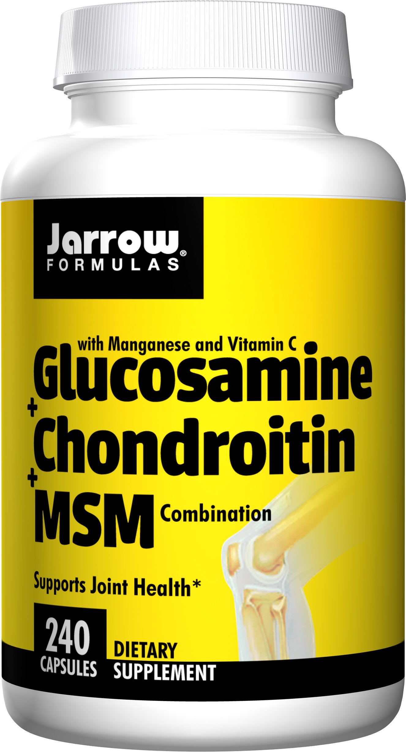 Jarrow Formulas Glucosamine and Chondroitin and MSM, Supports Joint Health, 240 Caps