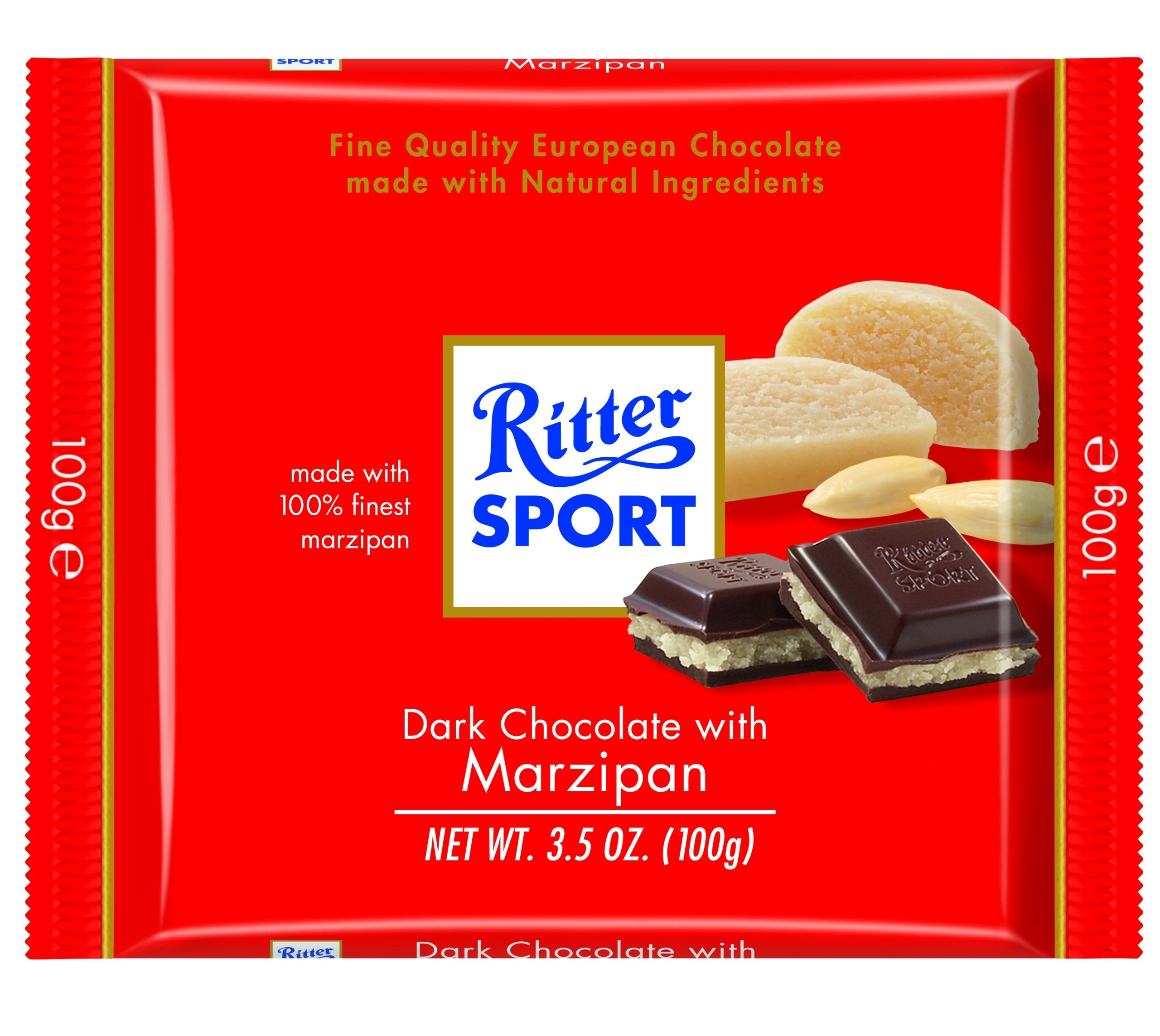 Amazon.com : Ritter Sport Peppermint Chocolate 100g : Candy And ...