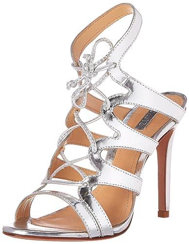 SCHUTZ Women's Dubiana Dress Sandal, Prata Specchio, ...