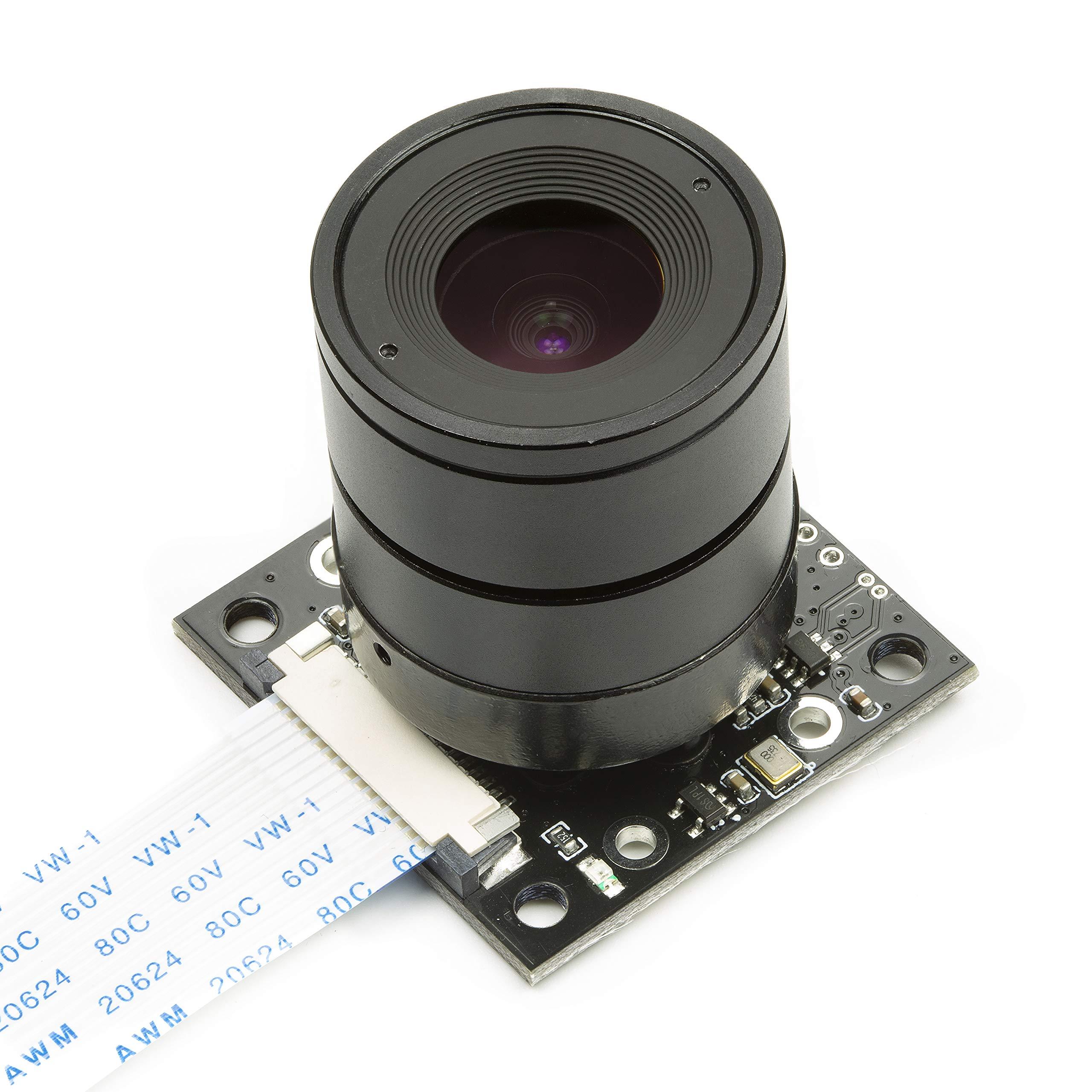 Arducam Noir Camera for Raspberry Pi, Interchangeable CS Mount Lens  LS-2717CS, OV5647 5MP 1080P