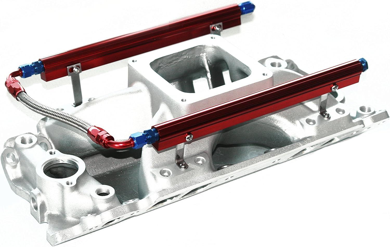BBC Rectangle Port Aluminum EFI Fuel Injection Dominator 4500 Intake Fuel Rails