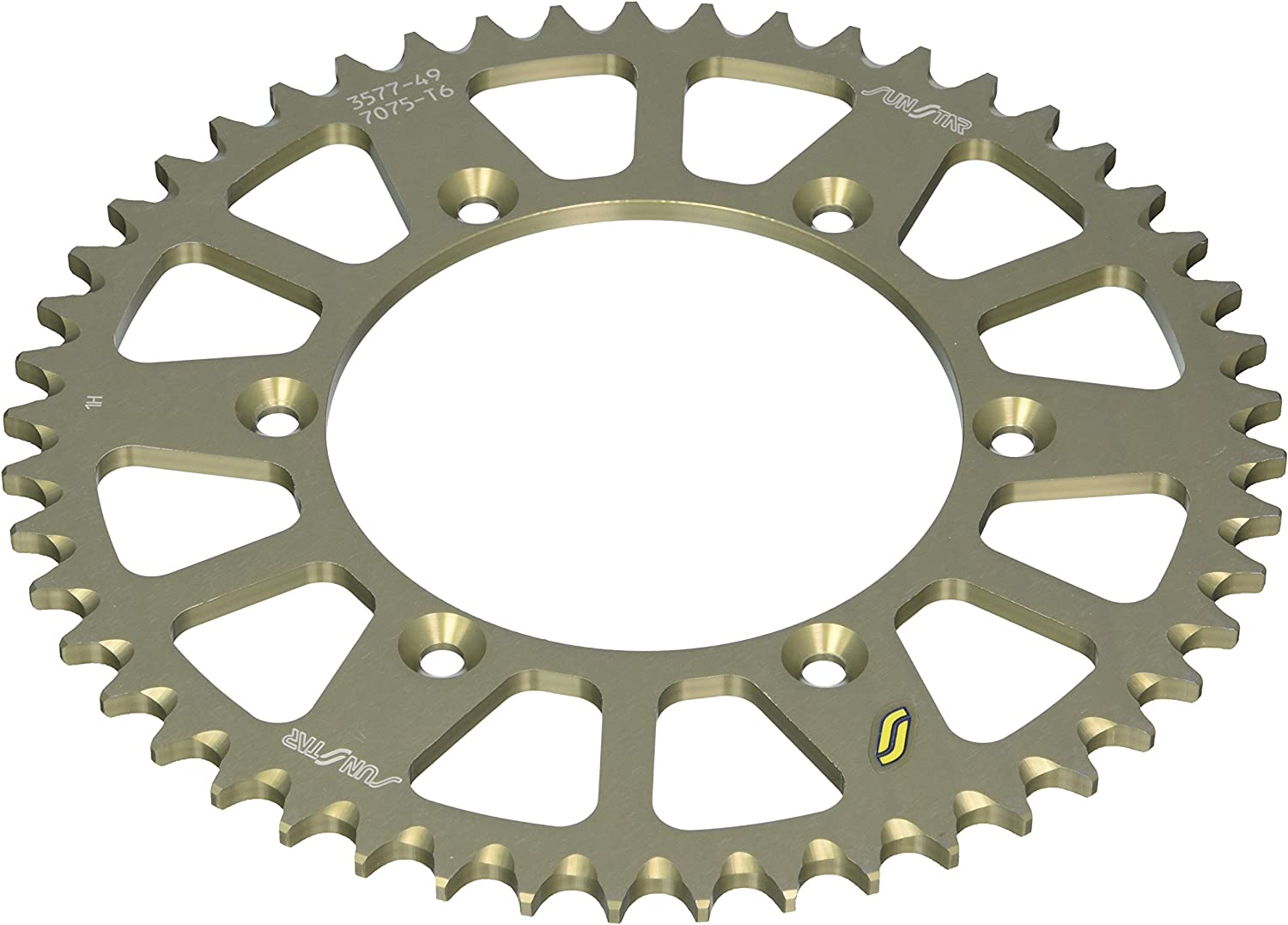 Sunstar Triplestar Aluminum Rear Sprocket  Black 50T