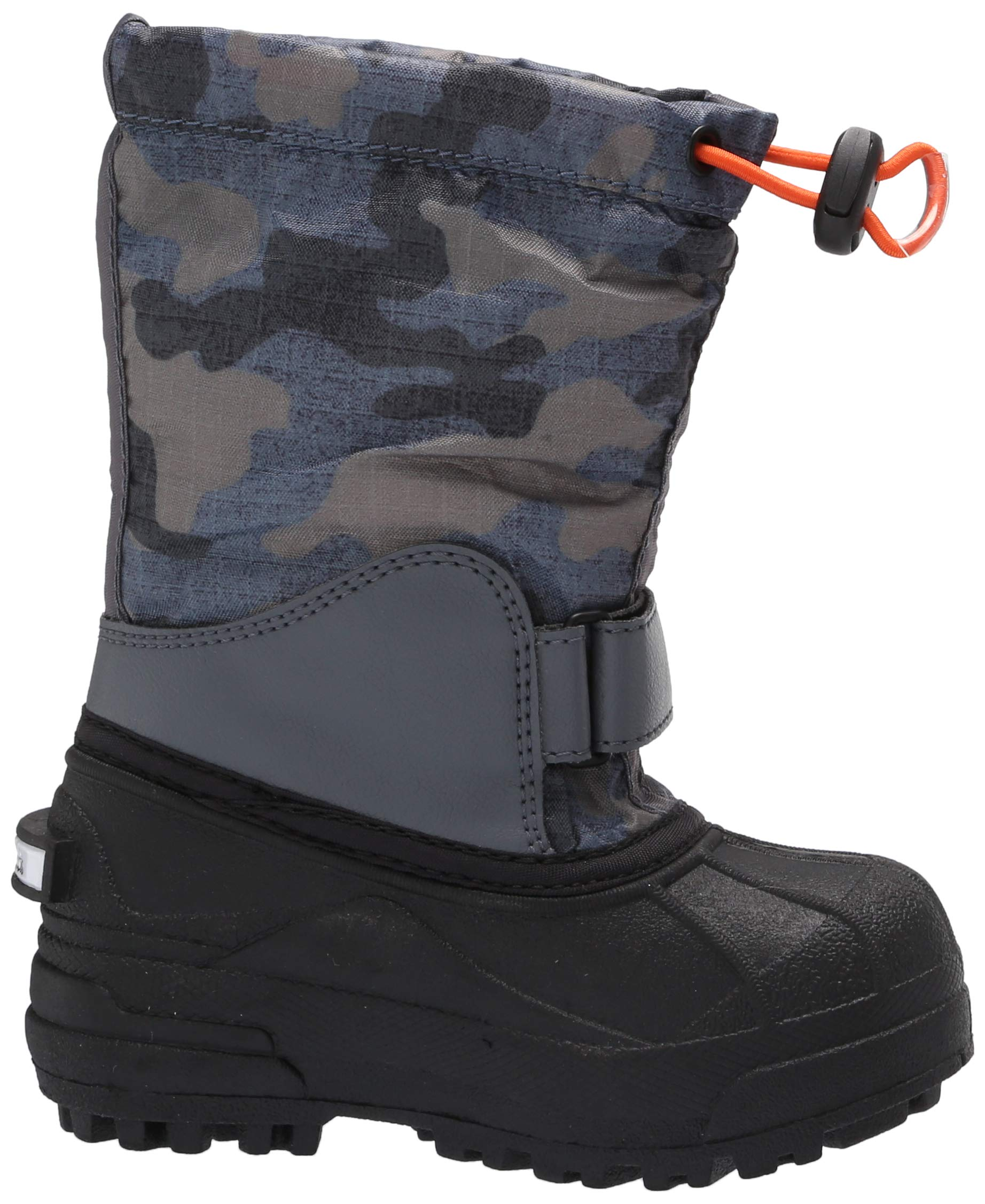 Columbia Boys' Childrens Powderbug Forty Print Snow Boot, Graphite, Heatwave, 8 Regular US Little Kid by Columbia (Image #7)
