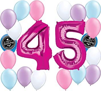 Amazon Choose Your Own Age 1 50th Girls Party Supplies Balloon Decoration Bundle For Any Happy Birthday Theme 45th Toys Games