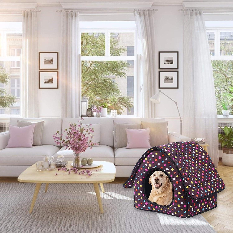 Tenda impermeabile pieghevole portatile protegge gli animali dal duro clima tenda per animali domestici letto morbido per cane e gatto per cuccia per animali domestici Cuccia per cani con manico