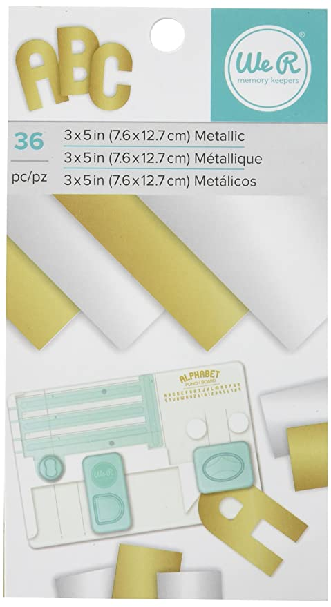 Amazon American Crafts We R Memory Keepers Paper Pad Metallic