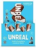 UNREAL Dark Chocolate Coconut Bars   Certified Vegan. Less Sugar, Gluten Free   40 Bars