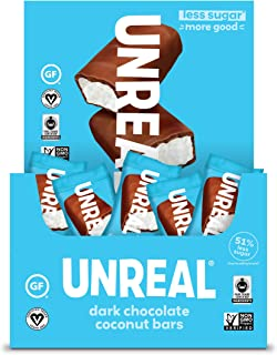 product image for UNREAL Dark Chocolate Coconut Bars | Certified Vegan. Less Sugar, Gluten Free | 40 Bars