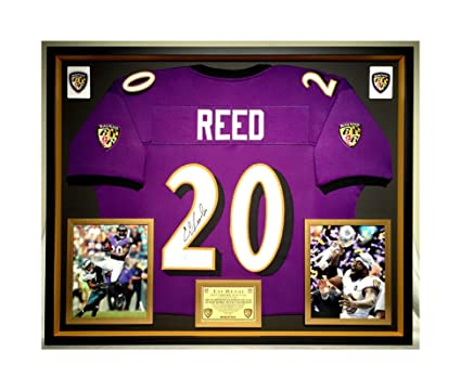 9b2fdd251b4 Premium Framed Ed Reed Autographed/Signed Baltimore Ravens Jersey ...