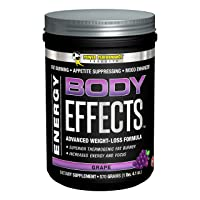 Power Performance Products Body Effects Pre Workout Supplement, Grape, 570 Grams