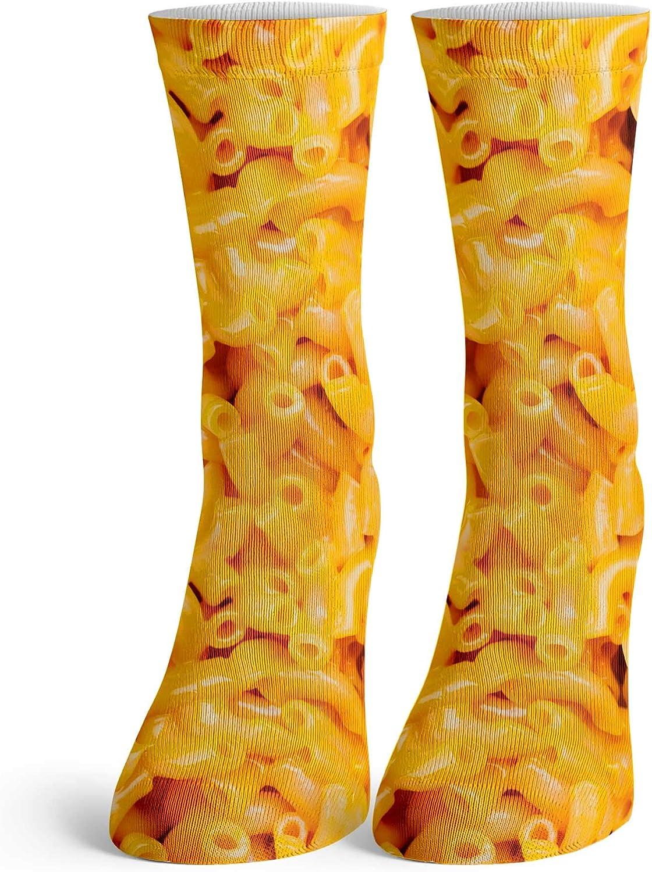 Function - Kids Mac and Cheese Tall Crew Socks Youth Child Children Boys Girls Unisex Macaroni Food Yellow Pasta Gooey Junk